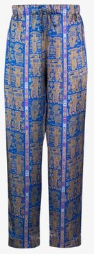 X Browns 50 printed silk trousers