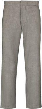 x Browns 50 cropped houndstooth trousers - Black