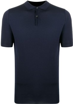 fine knitted polo shirt - Blue