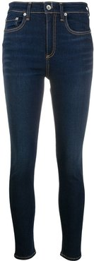 high-rise skinny-fit jeans - Blue