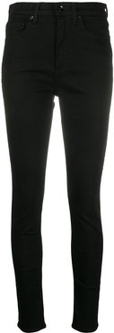 high-rise skinny-fit jeans - Black