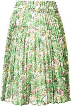 Lacy Gardens pleated skirt - Green