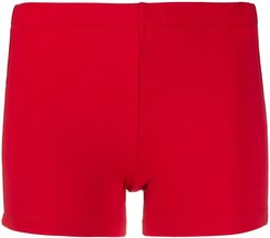 athletic body con shorts - Red