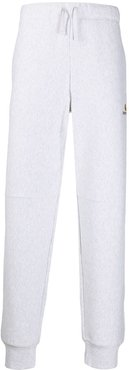 embroidered logo track pants - Grey
