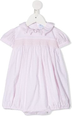 dot-embroidered cotton body - PINK