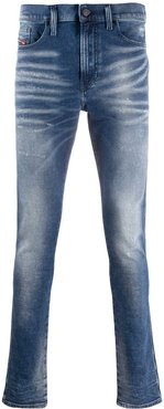 faded skinny jeans - Blue