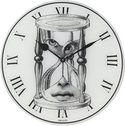 timer-face round wall clock - White