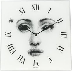 square face wall clock - White