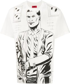 illustrated T-shirt - White