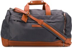 side-zip compartment holdall - Grey