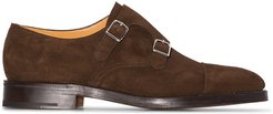 William buckle-strap monk shoes - Brown