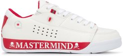 side-logo low-top sneakers - White