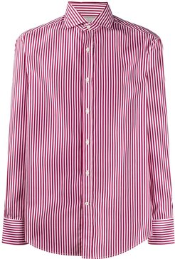 long sleeved striped shirt - Red
