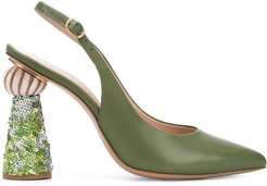 Les chaussures Loiza sequinned pumps - Green