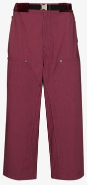 Oxford loose fit cropped trousers