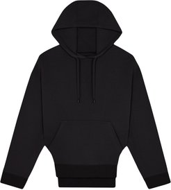 Rounded cutout hoodie - Black