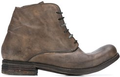stonewashed-effect ankle boots - Brown