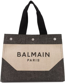 logo shopping tote - Neutrals