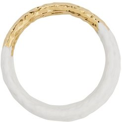 set of three bangles - White
