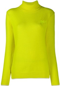 embroidered logo jumper - Yellow