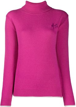 knitted logo jumper - PINK