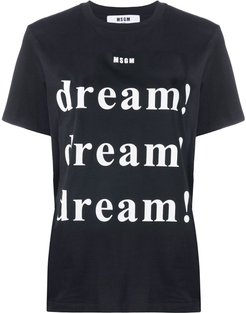 dream print T-shirt - Black
