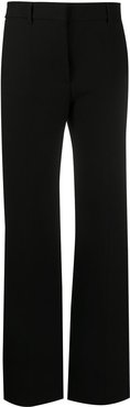 high waist straight trousers - Black