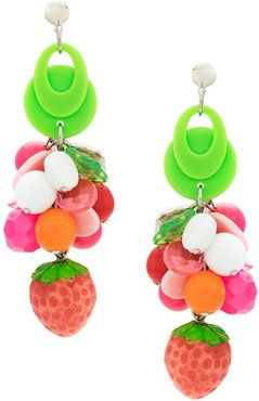 strawberry earrings - Multicolour