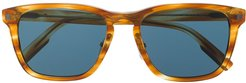 square-frame tinted sunglasses - Brown