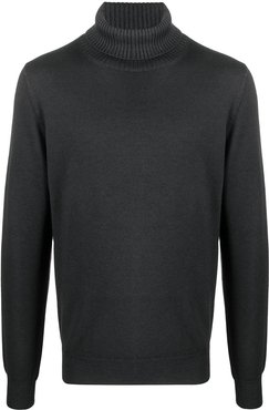 roll-neck knitted jumper - Blue
