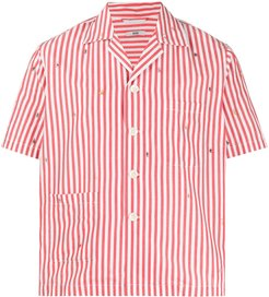 Outline People striped-print shirt - Red