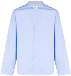 organic cotton pyjamas shirt - Blue