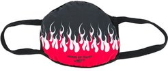 double flame face mask - Black