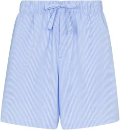 organic cotton pyjama shorts - Blue