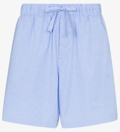 organic cotton striped pyjama shorts
