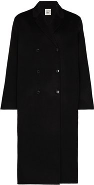 Picos double-breasted coat - Black
