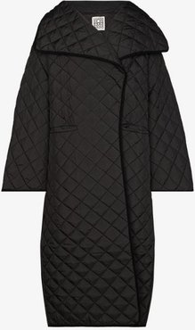 Annecy quilted long coat