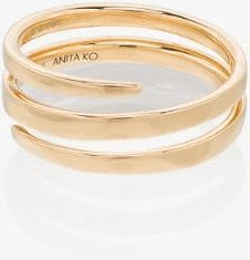 18K yellow gold Coil ring