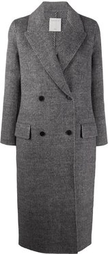 double-breasted midi coat - Grey