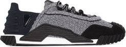 NS1 Hybrid knit-detail sneakers - Grey
