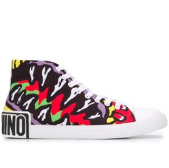 Funny Monster high-top sneakers - Red