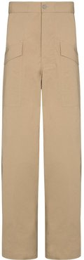wide-leg cargo trousers - Neutrals