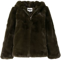 Chase hooded faux-fur coat - Green