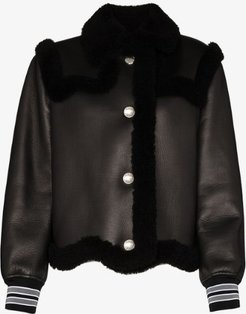 Elham shearling leather coat