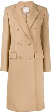 Bayane double-breasted coat - Brown