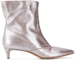 metallic-sheen 45mm ankle boots - Grey