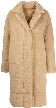 reversible single-breasted coat - NEUTRALS