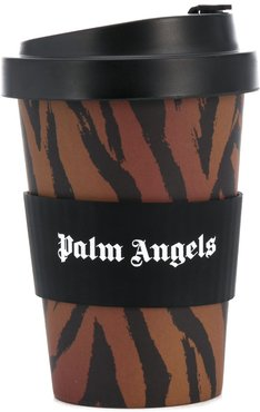 tiger print coffee cup - Brown