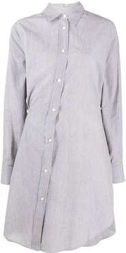 off-center Seen shirt dress - Grey
