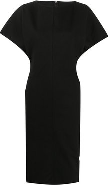 fitted shift dress - Black